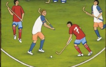 Boys playing hockey