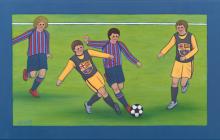 Entreno chicos del Barça